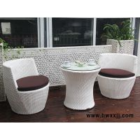 藤编花瓶桌椅组合室内外阳台休闲桌椅馨宁居户外仿藤家具
