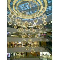 酒店大堂灯具定制售楼部沙盘吊灯LED不锈钢火花球吊灯moooi烟花球艺术吊灯