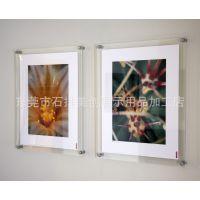 供应简单大方透明有机玻璃画框 亚克力广告牌 挂墙式相框