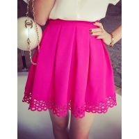 小银子2015夏装新款名媛气质拼接水溶蕾丝半身裙Q6142