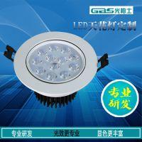 广州工程照明6W18W宾馆会所光柏士LED贴片天花灯品牌尺寸参数厂家