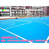 衡阳物业小区篮球场地面建设 耒阳学校塑胶篮球场包施工价格