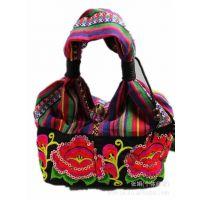 新款原创民族风手提包民族绣花包布艺包包苗绣时尚民族特色女士
