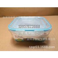 密封盒 微波炉保鲜盒 正方形透明塑料饭盒便当盒 水果盒 订制LOGO