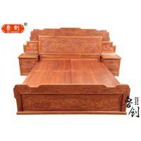 欧式床 法式双人床1.8米储物高箱床白色实木床公主床