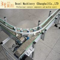 BEZEL柔性输送线 90°转弯 链板输送机 气雾剂灌装机输送配件