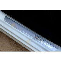 厂家直销2014款东风标致308不锈钢板音乐迎宾踏板门槛条汽车装饰
