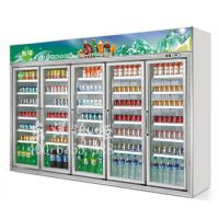 五门冷柜,五门分体饮料展示柜,东洋牌五门超市展示饮料冷藏柜,全家便利店饮料柜供应商,芙蓉兴盛便利店