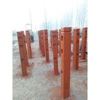 水泥仿木栏杆,仿树桩护栏,美观漂亮!