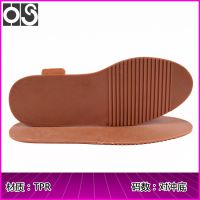 华塑鞋材 防滑凸齿粗条纹TPR对冲底 休闲圆头女单鞋底片 生产批发 835#