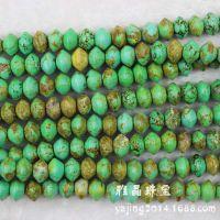 8x12mm绿松石算珠 DIY半成品散珠子串珠材料批发 手工饰品配件