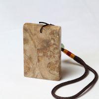 厂家批发 天然黄金樟平安无事牌 4*6 楠木满留疤 挂件木质工艺品