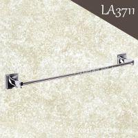 LA3711 铜浴室挂件 毛巾架 亮铬卫浴五金挂件毛巾杆 厂家直销