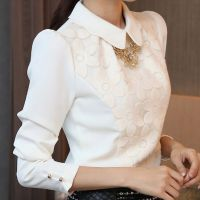 春秋新款韩版女装雪纺衫修身上衣大码女装打底衫潮批发S162