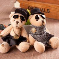 卡通戴帽子小熊钥匙扣 韩国新款挂件 包挂 时尚韩版东大门正品 潮