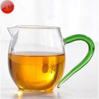 耐热玻璃茶具 彩色耐热玻璃杯/公道杯/纯手工吹制玻璃公道杯