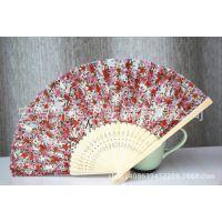 日本款21厘米冲花印花仕女舞蹈扇子 舞蹈工具扇子定制加工