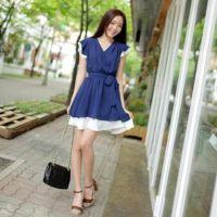 2014新款韩版夏天衣服大码连衣裙 女装夏装森系小清新连衣裙