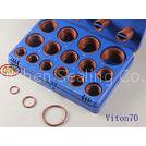 Industrial Fluorine Rubber O Rings Kits Max -25 Tensile Change