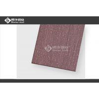拉丝不锈钢蚀刻麻布纹 批发福州304钢板镀红古铜 居家金属装饰材料