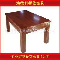 新品热卖 供应白橡木连体快餐桌椅肯德基餐桌 餐厅实木餐桌子定做
