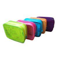 生产化妆包 荧光化妆袋厂家 定制透明PVC化妆包