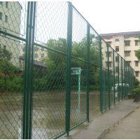 球场用编织防护网 分层组装式蓝球场地围栏网--加固稳定型