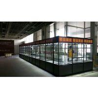 上海玻璃展柜 八棱柱展板 标准展位 搭建租赁上海宏桥展示 尺寸齐全