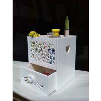 供应高档亚克力收纳用品 有机玻璃化妆品桌面收纳盒