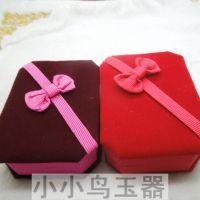 蝴蝶结绒布吊坠挂件包装盒  首饰礼品盒包装盒批发 工艺品盒批