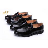 【品牌男鞋】犀牛皮鞋男商务正装皮鞋正品头层牛皮男士套脚低帮鞋