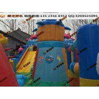 广场城堡气模床 充气蹦床儿童充气欢乐堡玩具 淘气堡气模滑梯河南厂家