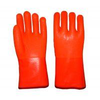 防寒手套 荧光PVC浸砂海绵复合布内衬平口防滑耐油保暖舒适 山东顺兴劳保用品 六防