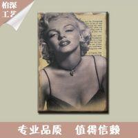 现货销售 人物麻布画 现代简约欧式麻布画 批发定制麻布画