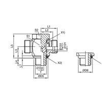 派克 TH-M-KDS 高压铰接式三通接头 公制螺纹弹性密封