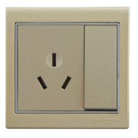 优质供应一位双控带三极16A插座开关 SD86H7-113