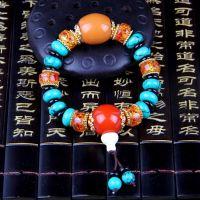 厂家直销正品绿松石手链批发算盘珠韩版男女同款手链手串