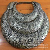 供应贵州苗族银饰 项圈挂件装饰工艺品批发