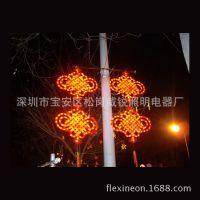 安徽蚌埠制作led树灯亚克力灯笼 中国结造型灯 节日led中国结灯