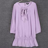 新款2015春秋装大码女装修身打底衫花色圆领长袖套头衫韩国连衣裙
