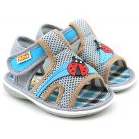 巴托夏季男女宝宝凉鞋软底防滑帆布婴儿学步鞋叫叫鞋6182批发
