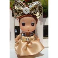 批发仿真韩国娃娃 8厘米迷糊娃娃钥匙圈挂件时尚婚庆花束卡通娃娃