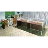广州办公家具职员办公桌简约现代电脑桌员工桌屏风4人组合工作位
