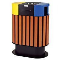 云南钢木分类垃圾桶塑木垃圾桶