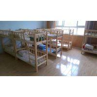 云南实木幼儿园床 幼儿重叠床 高低实木小床久久乐厂家供应