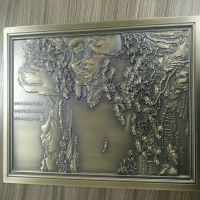 深圳宏而达铝板激光雕刻生产加工 可来图厂家定制铝雕工艺品 商场内挂饰