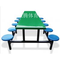 厂家订做直销不锈钢连体餐桌椅 员工学校食堂餐桌组合批发康腾体育