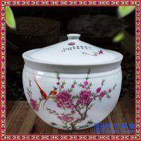 景德镇陶瓷家用米缸带盖水缸面缸密封储米罐防潮杂粮储米箱