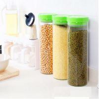 多新功能耐热玻璃密封罐 厨房储物罐 奶粉防潮透明茶叶干果收纳罐