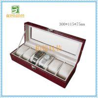 专业生产6位手表盒直销 高级手表盒订做 深圳手表收纳盒